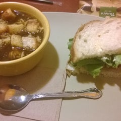 Photo taken at Panera Bread by Eve H. on 2/7/2014