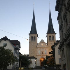 Photo taken at Hofkirche by Verena V. on 10/28/2013