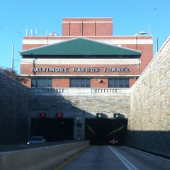 Photo taken at Baltimore Harbor Tunnel by Liza T. on 4/13/2013