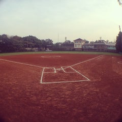 Photo taken at Lapangan Softball / Baseball Lodaya by Adhitya Nugraha P. on 5/11/2014