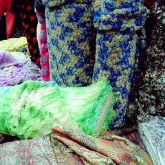 Photo taken at Toko Tekstil Kranggan (Jangkrik) by Ndre Z. on 8/25/2013
