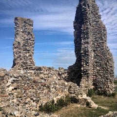 Photo taken at Reculver Towers and Roman Fort by James G. on 8/24/2015