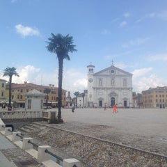 Photo taken at Piazza Grande by Petr L. on 7/27/2015