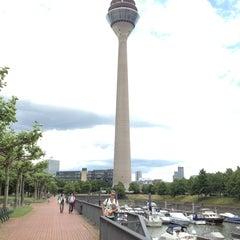 Photo taken at Rheinturm Park by Maxim I. on 6/22/2013
