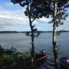 Photo taken at Wequaquet Lake by Laryssa M. on 9/29/2013