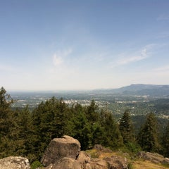 Photo taken at Spencer Butte Park by AJ O. on 5/9/2015