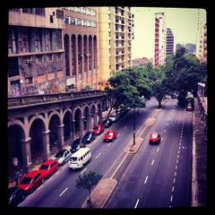 Photo taken at Viaduto Otávio Rocha (Viaduto da Borges) by Isac A. on 5/24/2013