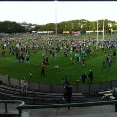 Photo taken at Brookvale Oval by Mark A. on 8/31/2014