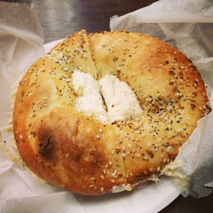 Photo taken at Daniel's Bagels by christine y. on 1/29/2013