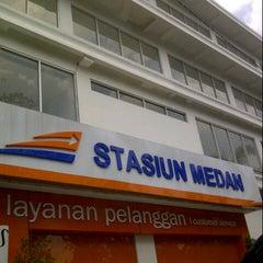 Photo taken at Stasiun Medan by Fenny D. on 3/17/2013