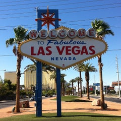 Photo taken at Welcome To Fabulous Las Vegas Sign by Mauricio M. on 6/14/2013
