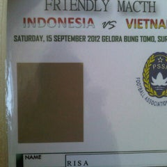 Photo taken at Stadion Gelora Bung Tomo by riza a. on 9/15/2012