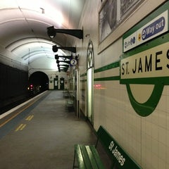 Photo taken at St James Station by Tim M. on 2/3/2013