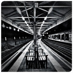 Photo taken at Barons Court London Underground Station by Fabien B. on 10/8/2012