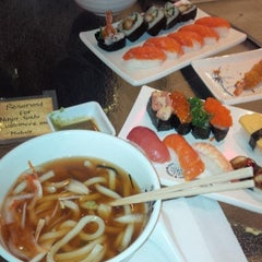 Photo taken at Ninja Sushi by Marvin C. on 1/12/2014