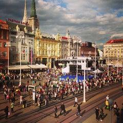 Photo taken at Trg bana Josipa Jelačića by Cesar P. on 6/27/2013