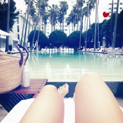 Photo taken at Delano South Beach by Zeynep Z. on 6/11/2013