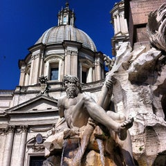 Photo taken at Piazza Navona by André d. on 7/15/2013