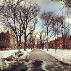 Photo taken at Commonwealth Avenue Mall by Ben H. on 1/2/2013