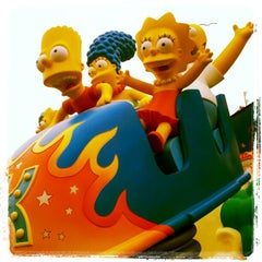 Photo taken at The Simpsons Ride by Peter D. on 11/15/2012