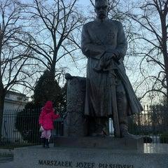 Photo taken at Pomnik Marszałka Piłsudskiego / Piłsudski Monument by Miazga E. on 12/28/2013