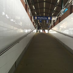 Photo taken at Strathfield Station (Platforms 7 & 8) by Bongwoon S. on 10/27/2015