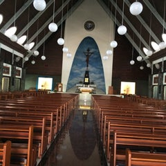 Photo taken at Gereja Katolik Roh Kudus by Andy N. on 10/15/2015