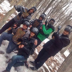 Photo taken at Cousins Paintball Staten Island by Saleh A. on 3/8/2014