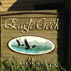 Photo taken at Eagle Creek at Burnaby Mountain by Ricky S. on 7/29/2013