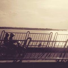 Photo taken at Jembatan Suramadu (Suramadu Bridge) by Satria T. on 6/1/2014
