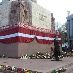 Photo taken at Brīvības piemineklis by Jolanta on 11/18/2013