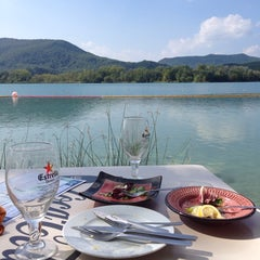 Photo taken at Banys Vells Banyoles by Carina on 9/25/2014