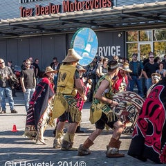 Photo taken at Trev Deeley Motorcycles by Mike D. on 9/30/2014