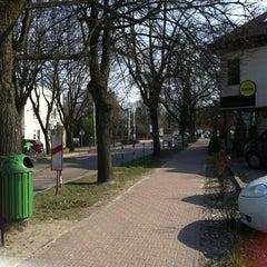 Photo taken at Podkowa Leśna by Aleksandra P. on 3/22/2014