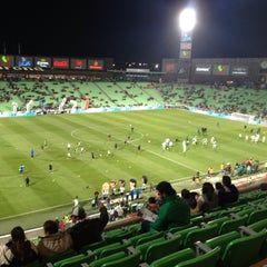 Photo taken at Territorio Santos Modelo Estadio by Gustavo D. on 1/30/2016