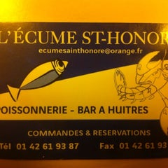 Photo taken at L'Écume Saint-Honoré by Igor S. on 3/21/2014