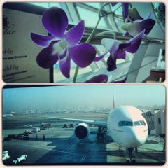 Photo taken at Emirates Lounge by Alena K. on 10/21/2013
