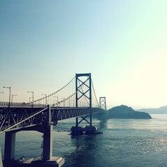 Photo taken at 大鳴門橋 by Yusuke T. on 7/9/2013