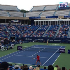 Photo taken at Connecticut Tennis Center by Joseph A. on 8/23/2014