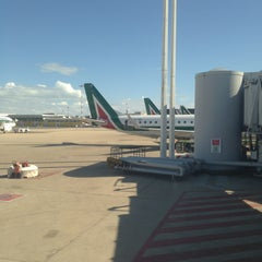 "Photo taken at Aeroporto Roma Fiumicino ""Leonardo da Vinci"" (FCO) by Alessio D. on 9/14/2013"