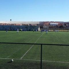 Photo taken at Abdurrahman Temel Futbol Sahası by Sıla O. on 2/7/2015
