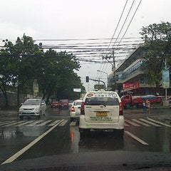 Photo taken at V. Luna Road by Allan S. on 8/1/2014