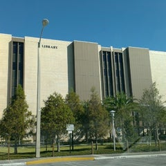 Photo taken at USF Library by Jeremy A. on 10/12/2013