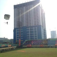 Photo taken at Stadion Lebak Bulus by Didiet W. on 10/21/2013