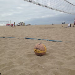 Photo taken at Huntington Beach Beach Volleyball Courts by Amanda S. on 9/21/2013