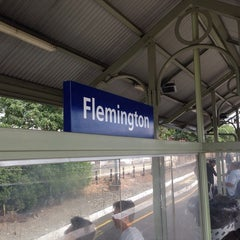 Photo taken at Flemington Station by Richard S. on 10/1/2013
