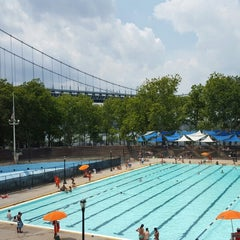 Photo taken at Astoria Park Pool by Monica E. on 7/26/2015