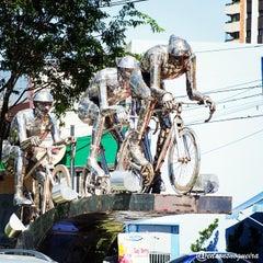 Photo taken at Ciclo-Faixa Paulo Faccini/Salgado Filho by edsonsnogueira on 4/6/2014