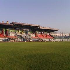 Photo taken at Stadion Gelora Bangkalan by FerlianaFadli M. on 9/13/2013