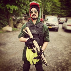 Photo taken at Cousins Paintball Staten Island by Bruno C. on 5/24/2014